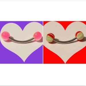 2 Curved Barbells